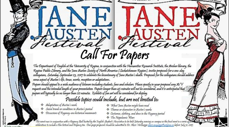 Jane Austen Festival:  Call for Papers
